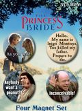 Princess Bride 4 PC Magnet Set (2009 Ata-Boy) SET-01