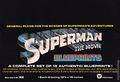Superman The Movie Blueprints (1979) 1979