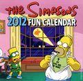 Simpsons 2012 Fun Calendar (2011 HarperCollins) #2012