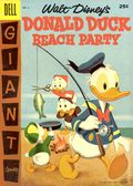 Dell Giant Donald Duck Beach Party (1954-1959 Dell) 4-25C