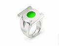 Green Lantern Stainless Steel Emblem Ring (2011) SIZE-10