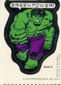 Topps Marvel Comic Book Heroes Sticker Trading Cards (1975) HULK-2