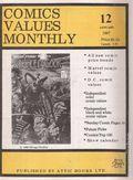 Comics Values Monthly (1986) 12