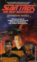 Star Trek The Next Generation Doomsday World PB (1990 Pocket Novel) 1-1ST