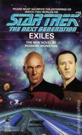 Star Trek The Next Generation Exiles PB (1990 Pocket Novel) 1-1ST