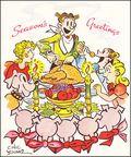 Blondie Christmas Card (1951) 1951