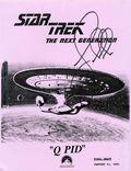 Star Trek The Next Generation Q Pid Screenplay SC (1991) 1-1ST