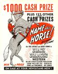 Black Diamond Western Newsstand Promo Poster (1951) 1951