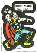 Topps Marvel Comic Book Heroes Sticker Trading Cards (1976) THOR