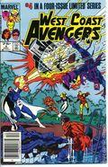West Coast Avengers (1984 Limited Series) Mark Jewelers 4MJ