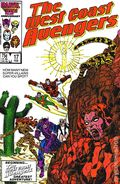 Avengers West Coast (1985) Mark Jewelers 17MJ