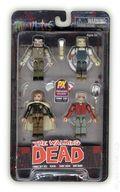 MiniMates: The Walking Dead 4-Pack (2013 ArtAsylum) San Diego Comic Con Exclusive SET#1