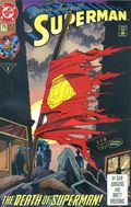 Superman (1987 2nd Series) 75DFSIGNED.B