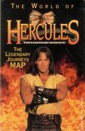 World of Hercules The Legendary Journeys Map (1998 Harper Entertainment) ITEM#1