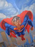 Superman Poster by Jon Bogdanov (1991 DC) ITEM#1