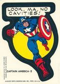 Topps Marvel Comic Book Heroes Sticker Trading Cards (1975) CAPAMERICA-2
