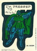 Topps Marvel Comic Book Heroes Sticker Trading Cards (1975) DRDOOM