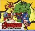 Marvel Avengers Paint-by-Numbers (2015 Thunder Bay Press) 5 Classic Scenes ITEM#1