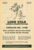 Lone Star Comics and Science Fiction Catalog (Lone Star Comics) 105B