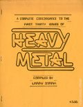 Heavy Metal A Complete Concordance To The First Thirty Issues SC (1979) 1