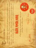 Master Monster Maker Certificate (1964 Warren) Aurora Plastics 0