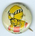 Kellogg's Pep Pinback Button (1945) PUNJAB