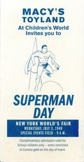 Macy's Toyland Superman Day World's Fair Ticket (1940 Macy's Department Store) 1