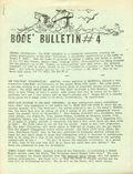 Bode Bulletin (1971) fanzine 4