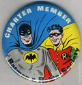Charter Member Batman and Robin Society (1966 DC) Collectible Pin Button ITEM-01