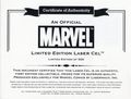 Official Marvel Limited Edition Laser Cel (2005 Lasermach) #1