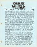 Comix World Newsletter (1973) fanzine 1