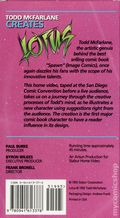 Todd McFarlane Creates Lotus VHS (1992 Stabur Home Video) ITEM#1