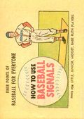 Finer Points of Baseball For Everyone: How to Use Baseball Signals (1958) 1965