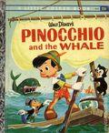 Walt Disney's Pinocchio and the Whale HC (1961 Golden Press) A Little Golden Book D101