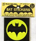 Bat Stickers (1966 Alan-Whitney Co.) 5 Glo-Colors SET#1
