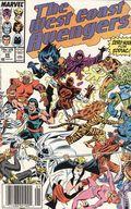 Avengers West Coast (1985) Mark Jewelers 28MJ