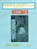 Critics Choice Magazine: Watchmen SC (1987 Psi Fi Press) 1-1ST