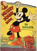 A New Mickey Mouse Book to Color SC (1937 Saalfield) 2165