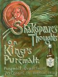Shakespeare's Thoughts on King's Puremalt (c. 1910) 1910