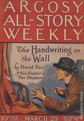 Argosy Part 3: Argosy All-Story Weekly (1920-1929 Munsey/William T. Dewart) Mar 29 1924