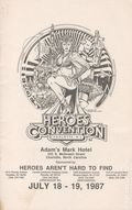 Heroes Convention Program Book Charlotte (1992) 1987