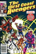 Avengers West Coast (1985) Canadian Price Variant 1