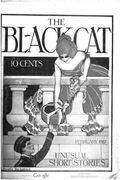 Black Cat (1895-1922 Shortstory) Pulp Vol. 22 #5
