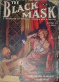 Black Mask (1920-1951 Pro-Distributors/Popular) Black Mask Detective Pulp Oct 1921