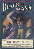 Black Mask (1920-1951 Pro-Distributors/Popular) Black Mask Detective Pulp Jan 15 1924