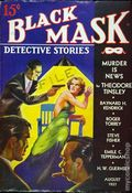 Black Mask (1920-1951 Pro-Distributors/Popular) Black Mask Detective Pulp Aug 1937