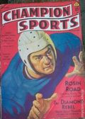 Champion Sports (1937-1939 Periodical House) Pulp Vol. 2 #1