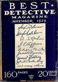 Best Detective Magazine (1929-1937 Street & Smith) Pulp Vol. 1 #1