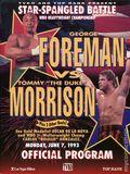 """Star-Spangled Battle George Foreman vs. Tommy """"The Duke"""" Morrison (1993 TVKO) Official Program 0"""