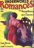 Underworld Romances (1931-1932 Popular Publications) Pulp Vol. 1 #1